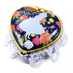Japan Disney Notepad Memo Mirror Jewelry Box - Heart Alice in the Wonderland