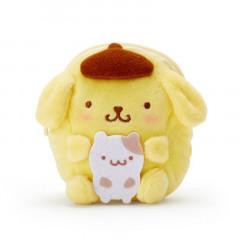 Japan Sanrio Plush Mini Pouch - Pompompurin