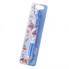 Japan Disney Sarasa Multi 4+1 Gel Pen & Mechanical Pencil - Alice in Wonderland