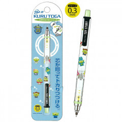 Japan Disney Uni Kuru Toga Auto Lead Rotation 0.5mm Mechanical Pencil - Toy Story Little Green Men Cosplay