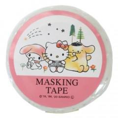 Japan Sanrio Washi Paper Masking Tape - Sanrio Family