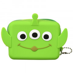 Japan Disney Mini Pouch - Little Green Men Face