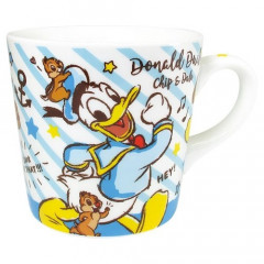 Japan Disney Ceramic Mug - Donald & Chip & Dale