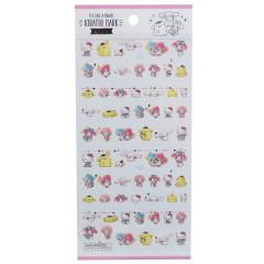 Japan Sanrio Kiratto Mark Seal Sticker - Sanrio Family