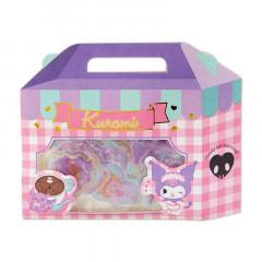Japan Sanrio Sweets Stickers with Cake Box - Kuromi