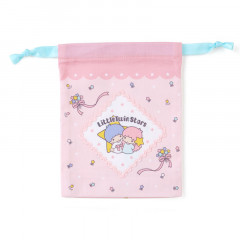 Japan Sanrio Drawstring Bag - Little Twin Stars