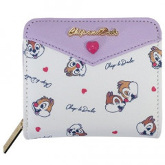 Japan Disney Bi-Fold Wallet - Chip & Dale Heart