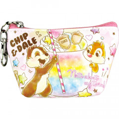 Japan Disney Triangular Mini Pouch - Chip & Dale