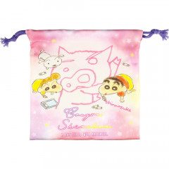 Japan Crayon Shin-chan Drawstring Bag - Pink