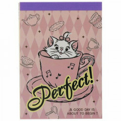 Japan Disney B8 Mini Notepad - Marie Cat