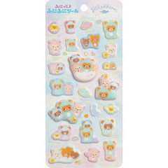 Japan San-X Rilakkuma Bear Bubble Seal Sticker - Dinasour