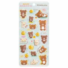 Japan San-X Rilakkuma Bear Bubble Seal Sticker - Relax