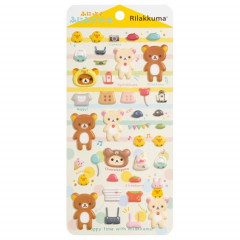 Japan San-X Rilakkuma Bear Bubble Seal Sticker - Home