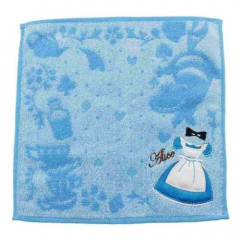 Japan Disney Fluffy Handkerchief Wash Towel - Alice in Wonderland