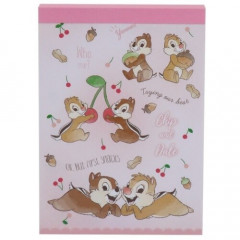 Japan Disney B8 Mini Notepad - Chip & Dale Pink