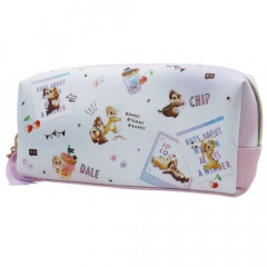 Japan Disney Synthetic Leather Pouch (L) - Chip & Dale