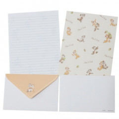 Japan Disney Letter Envelope Set - Chip & Dale