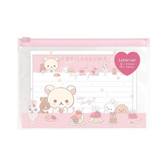 Japan San-X Rilakkuma Envelope & Folder Set - Korilakkuma & Rabbit