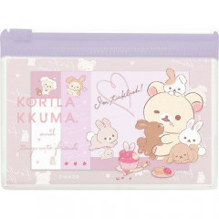 Japan San-X Rilakkuma Sticky Memo & Folder Set - Korilakkuma & Rabbit