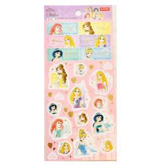Japan Disney Sticker - Princess Ariel Rapunzel Jasmine