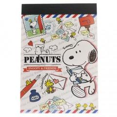 Japan Snoopy B8 Mini Notepad - Mail