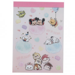 Japan Disney B8 Mini Notepad - Tsum Tsum Cloud