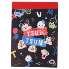 Japan Disney B8 Mini Notepad - Tsum Tsum Party
