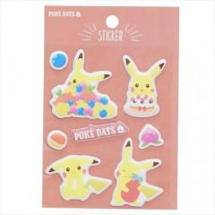 Japan Pokemon Puffy Sticker - Pikachu Snake