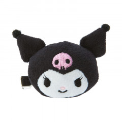 Japan Sanrio Plush Hair Clip - Kuromi
