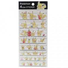 Japan Pokemon 4 Size Sticker - Pikachu Light Bulb