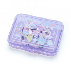 Japan Sanrio Sticker with Case - Sanrio Family Purple