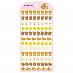 Japan San-X Rilakkuma Bear Seal Sticker - Mini Face
