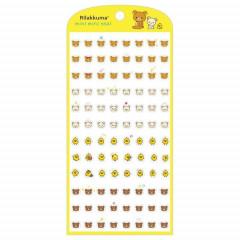Japan San-X Mini Mini Seal Sticker - Rilakkuma / Yellow