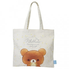 Japan San-X Rilakkuma Linen Tote Bag - Chairoikoguma Star Night