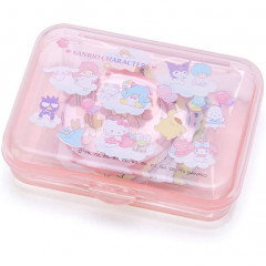 Japan Sanrio Sticker with Case - Sanrio Family Pink