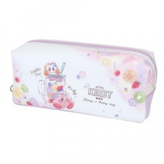 Japan Nintendo Zipper Makeup Stationery Pencil Bag Pouch - Kirby Fruit