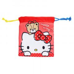Japan Sanrio Drawstring Bag - Hello Kitty Red