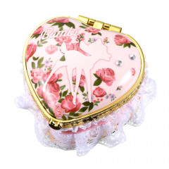Japan Disney Notepad Memo Mirror Jewelry Box - Heart Bambi