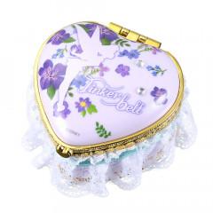 Japan Disney Notepad Memo Mirror Jewelry Box - Heart Tinkle Belle