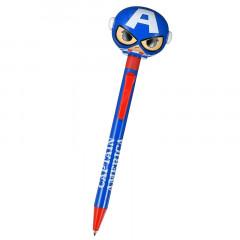 Japan Disney Big Moving Hands Ball Pen - Marvel Captain America