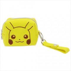 Japan Pokemon Mini Pouch with Hand Strap - Pikachu
