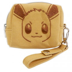 Japan Pokemon Mini Pouch with Hand Strap - Eevee