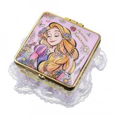 Japan Disney Notepad Memo Mirror Jewelry Box - Rapunzel Cheerful Dance