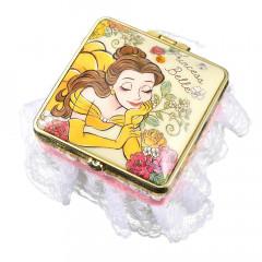 Japan Disney Notepad Memo Mirror Jewelry Box - Belle Cheerful Dance