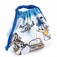 Japan Disney Drawstring Bag - Donald Duck & Chip & Dale