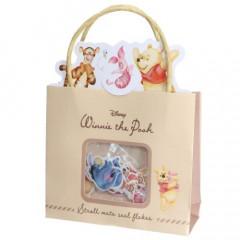 Japan Disney Stickers with Mini Paper Bag - Winnie The Pooh & Friends