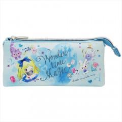Japan Disney 3 Pocket Pouch - Little Fairy Tale Alice