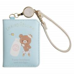 Japan San-X Rilakkuma Pass Case Card Holder - Chairoikoguma & Milk