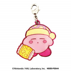 Japan Kirby Metal Charm Key Chain - Sleep