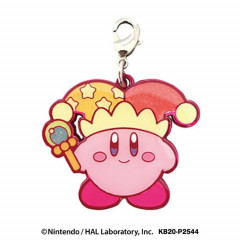 Japan Kirby Metal Charm Key Chain - Clown Beam